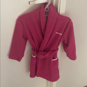 Bonds kids dressing gown hot pink size 2